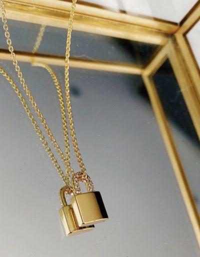 Gold Padlock Necklace produ