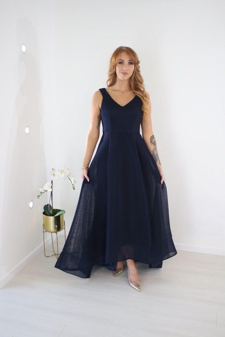 Violet V-Neck High-Low Ball Gown produ