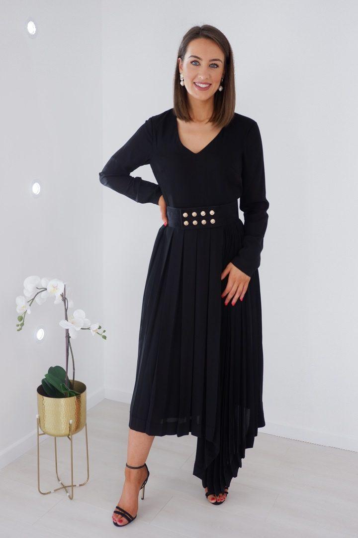 Blair- Black Statement Hem Dress produ