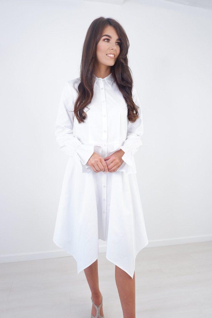 Ava – Summer White Shirt Dress produ