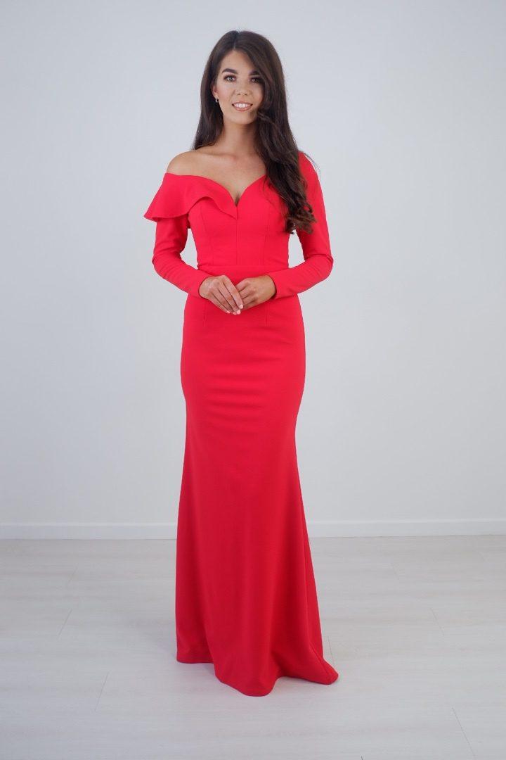 Bariano – Red Full Length Dress produ