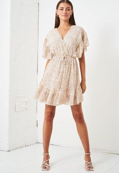 Cream Confetti Print Dress produ
