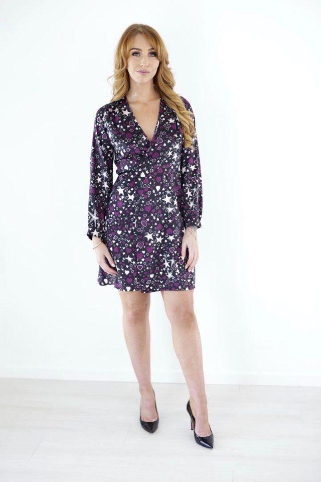 Hearts & Stars Silky Wrap Dress produ