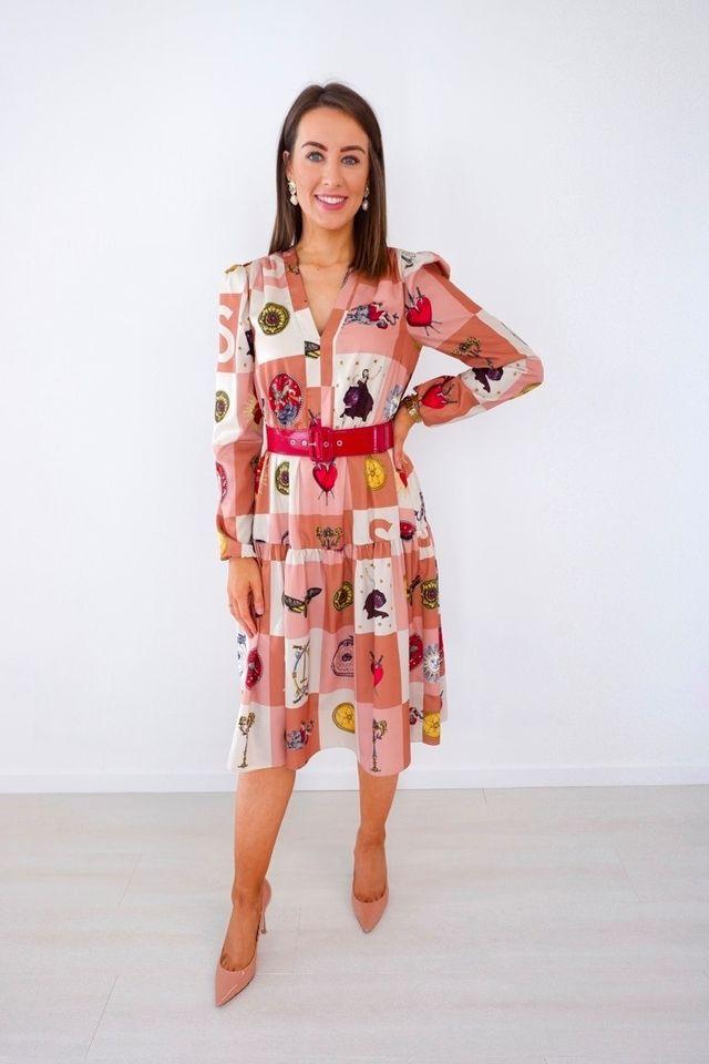 Blush Toned Fantasy Print Dress produ