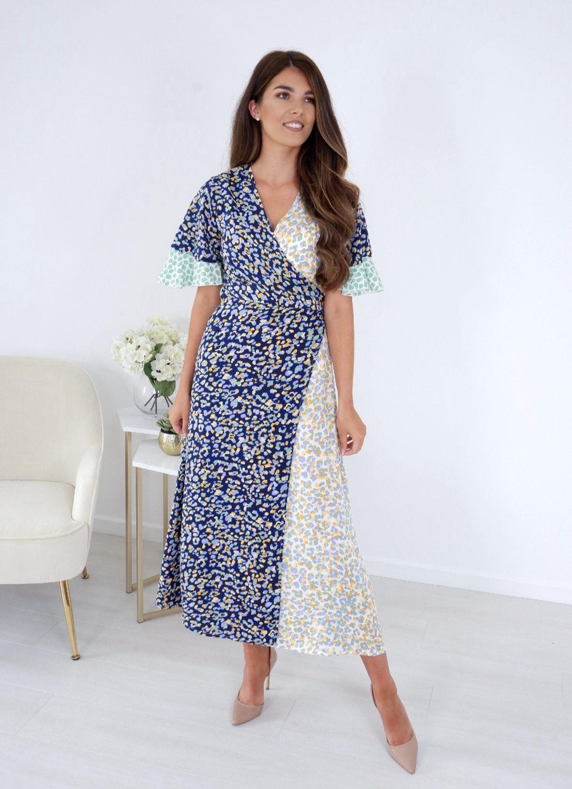 Rhianna – Multi Animal Print Wrap Dress produ