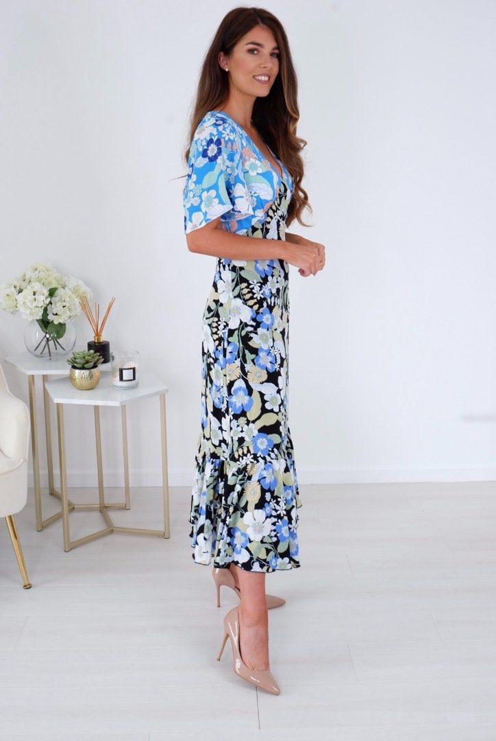 Ella – Floral Frill Tier Midi Dress produ