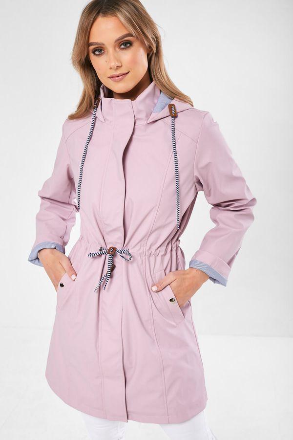 Cassie – Drawstring Rain Jacket In Lilac produ