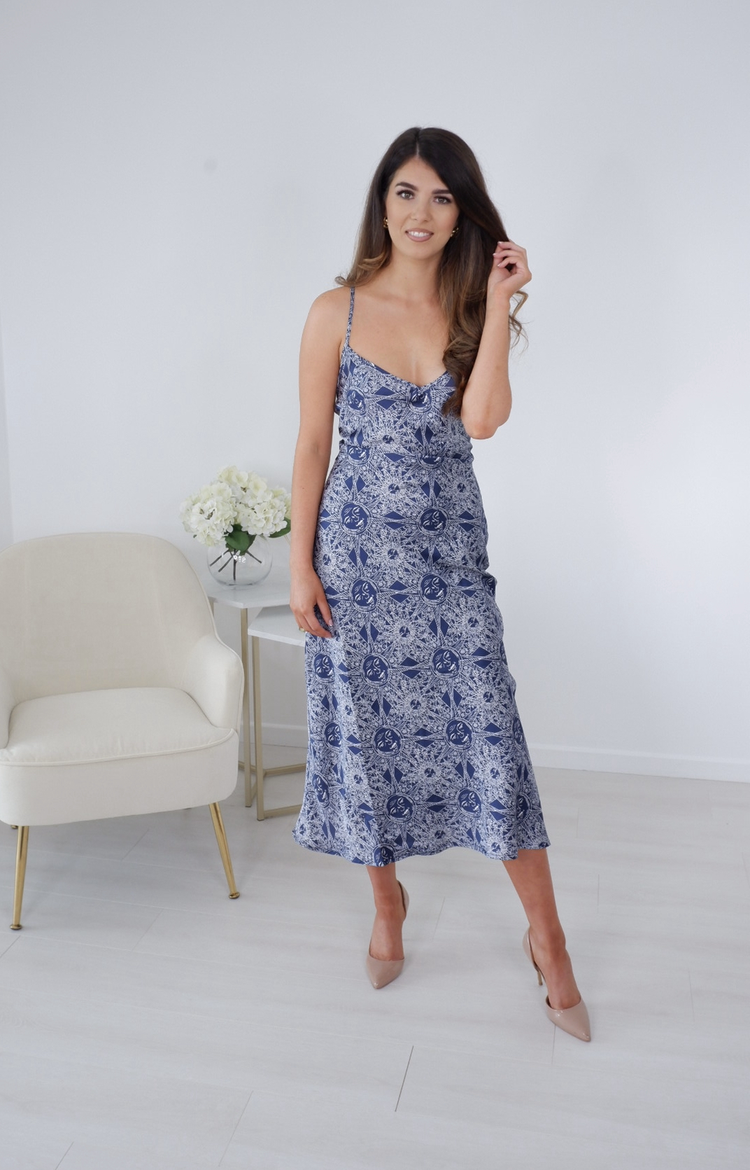 Jasmine – Midnight Satin Cami Dress produ